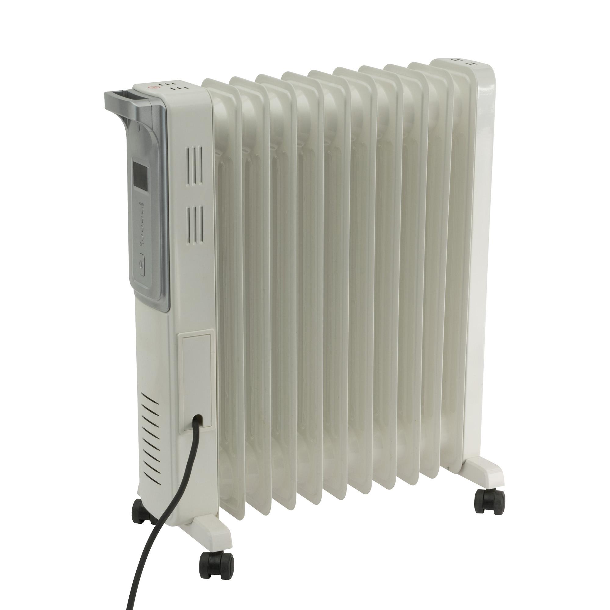 Calorifer electric cu ulei Home FKO 11 LCD, 2 panouri convectoare, 2200 W, aluminiu, alb, 63 x 52 cm imagine 2021 mathaus