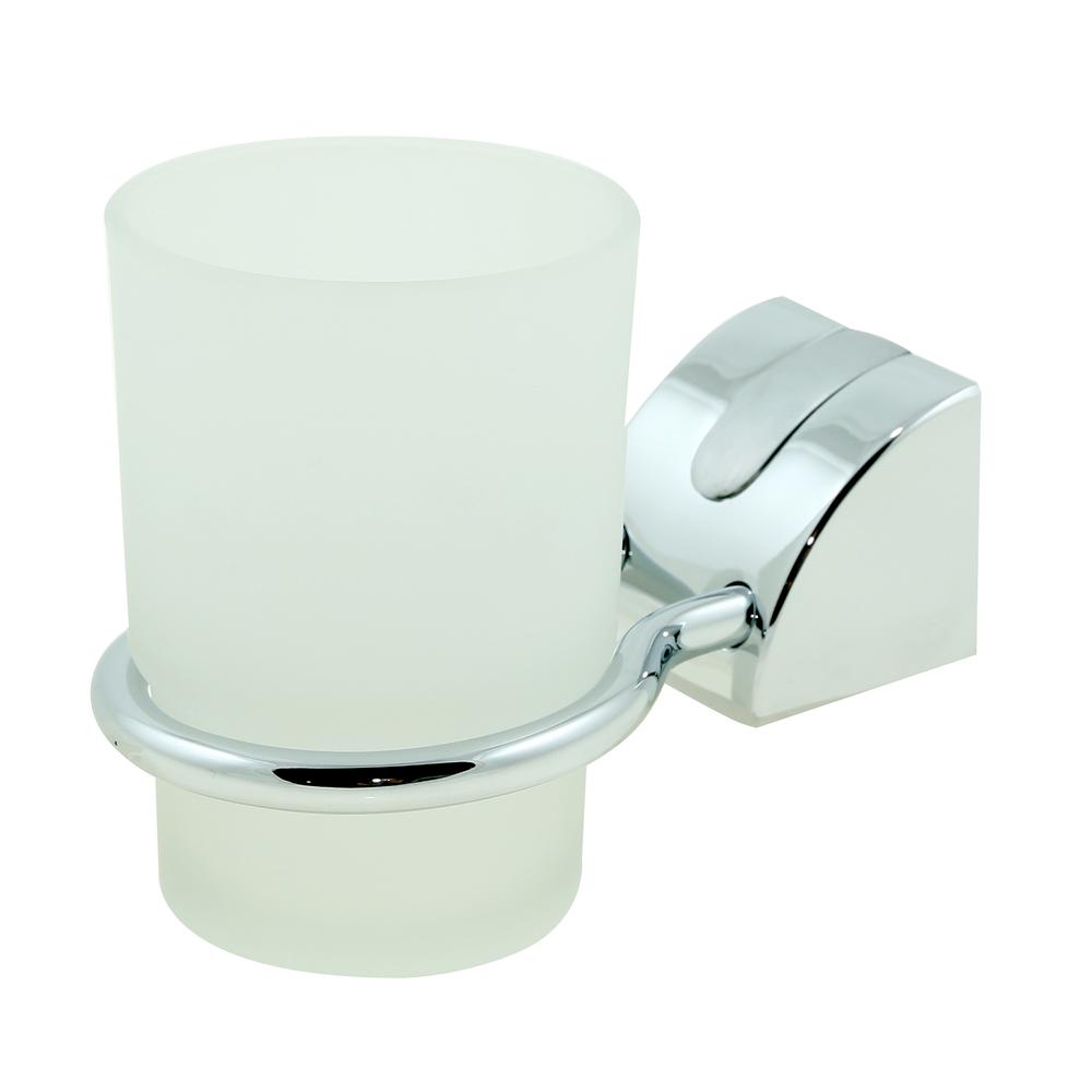 Suport simplu pentru pahar Ferro Cascata, crom, alb imagine 2021 mathaus