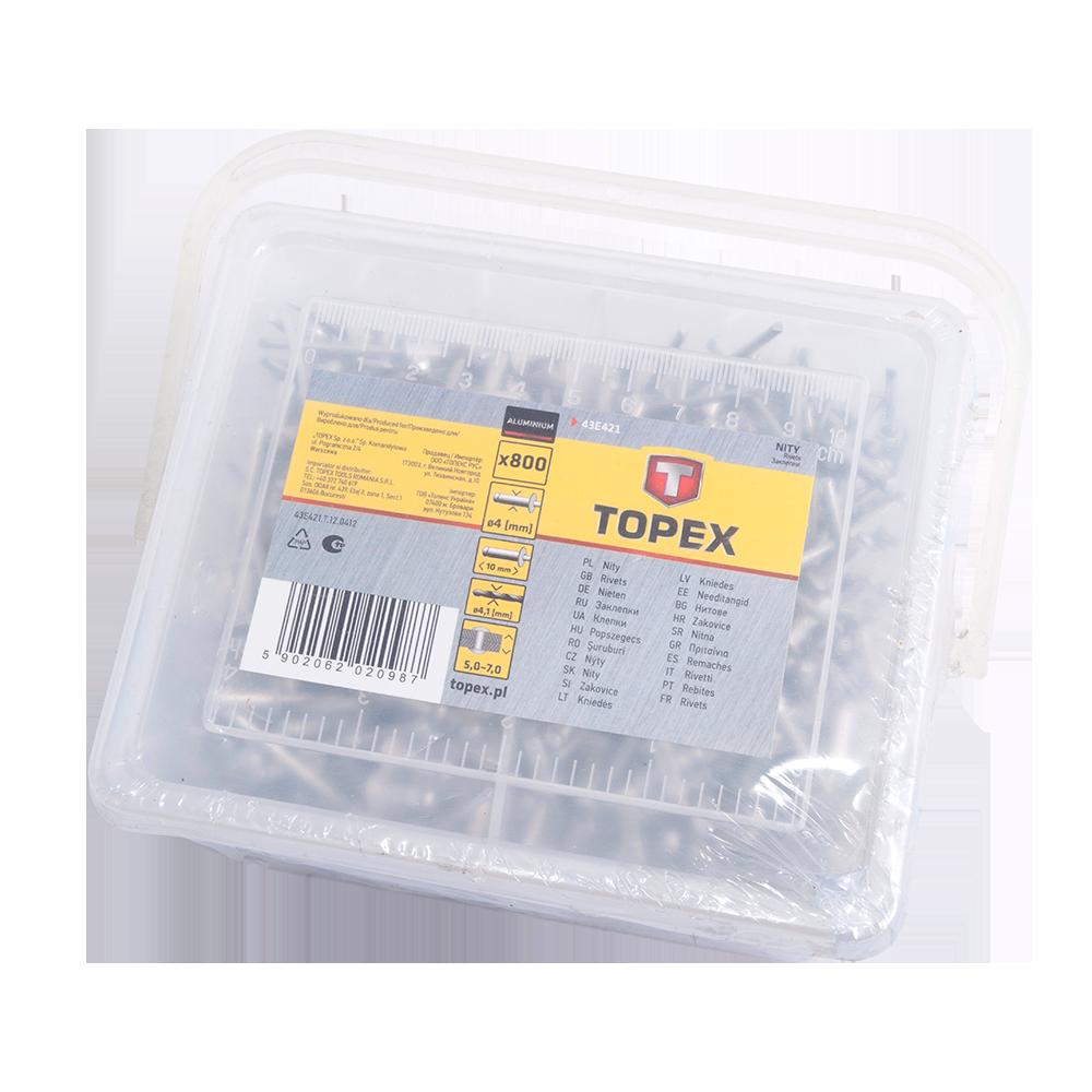 Nituri Din Aluminiu Topex 43E421 4,0 mm X 10 mm imagine MatHaus.ro