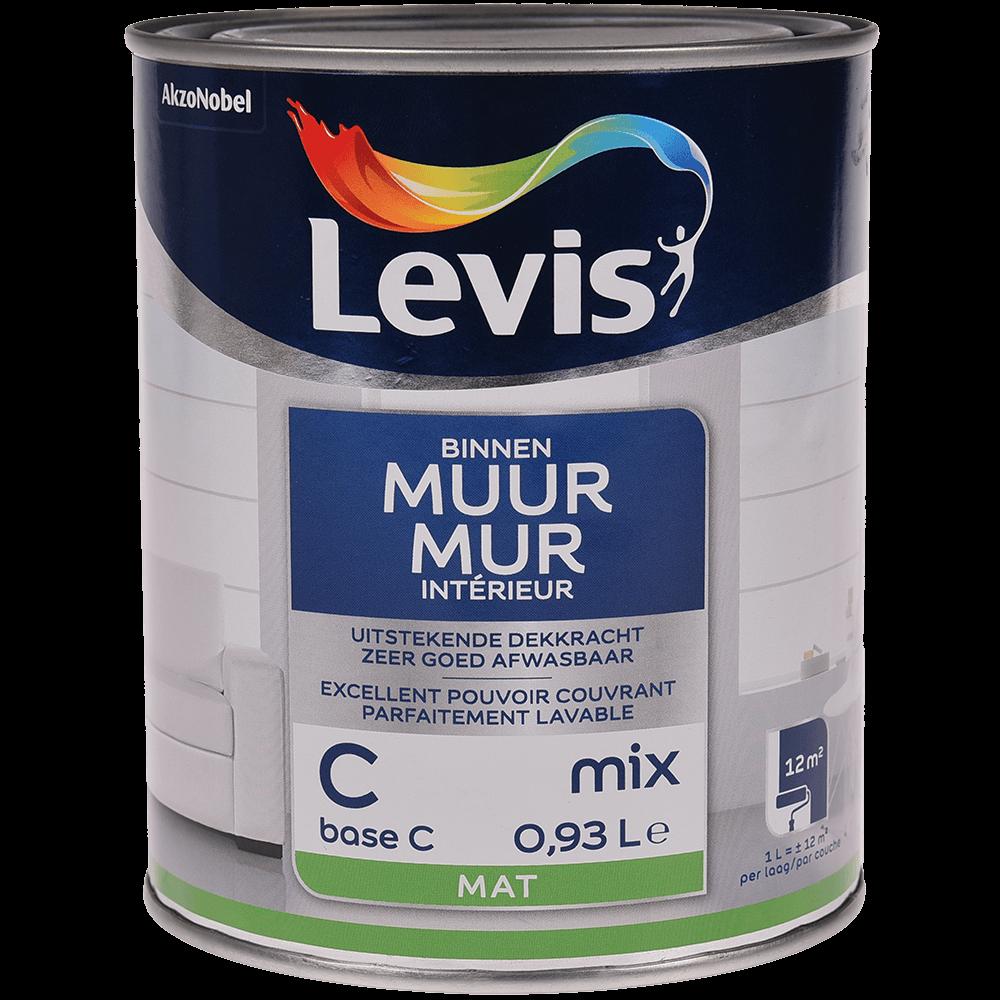 Vopsea lavabila Levis Muur Latex Base C, alb mat, 1 l mathaus 2021