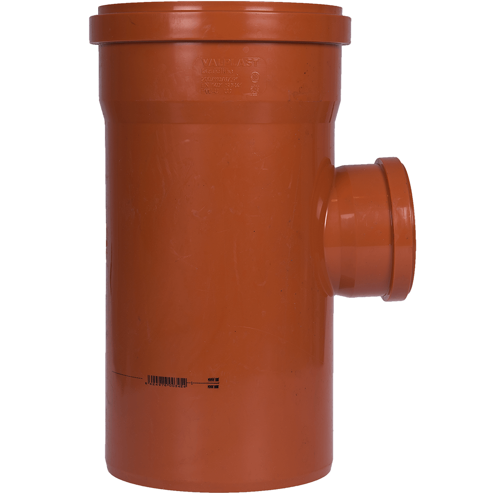 Ramificatie pentru canalizarea exteriorara Valplast, PVC, 87 grade, 200 x 110 mm