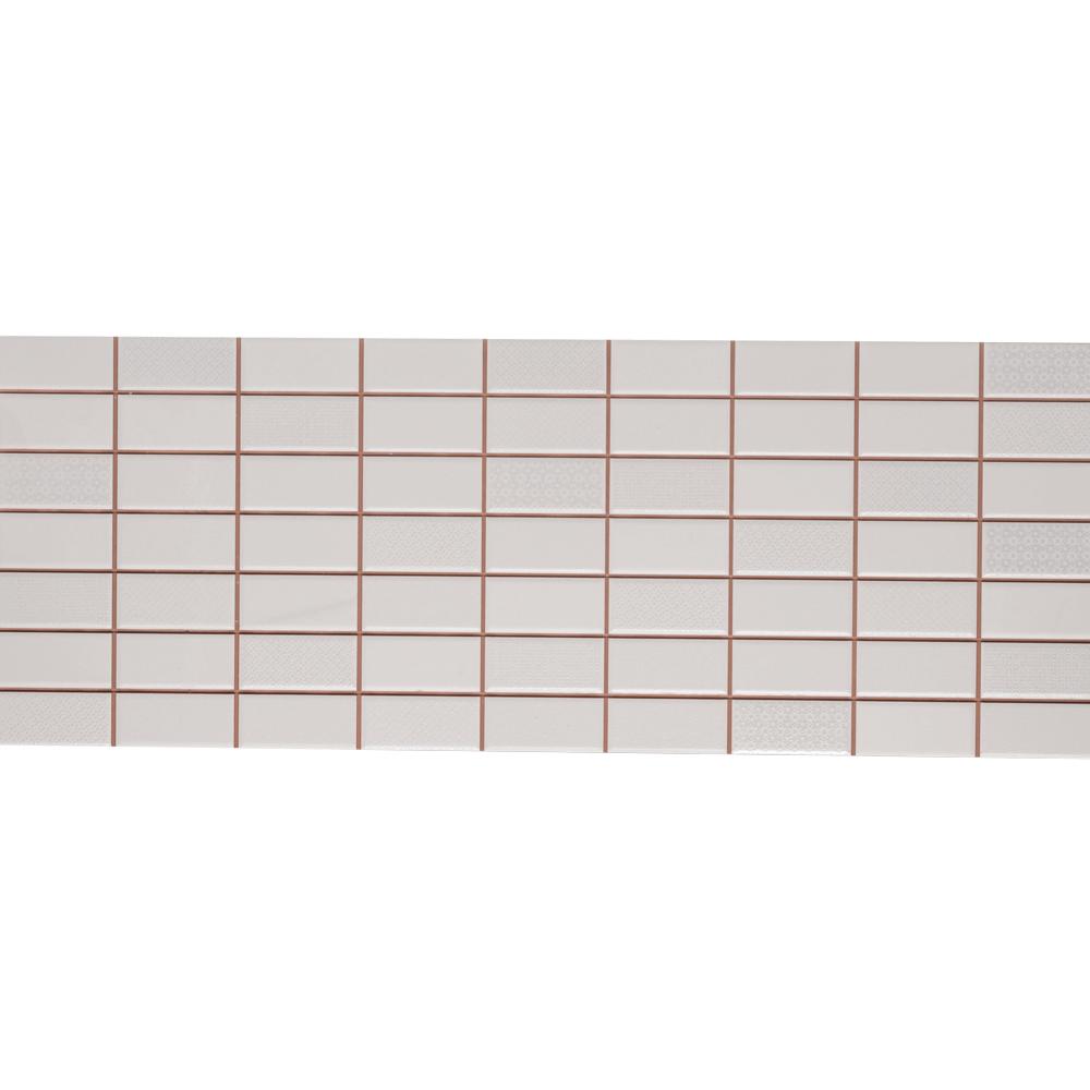 Faianta Dglam White, alb, aspect geometric, mata, 22.5 x 60 cm imagine MatHaus.ro