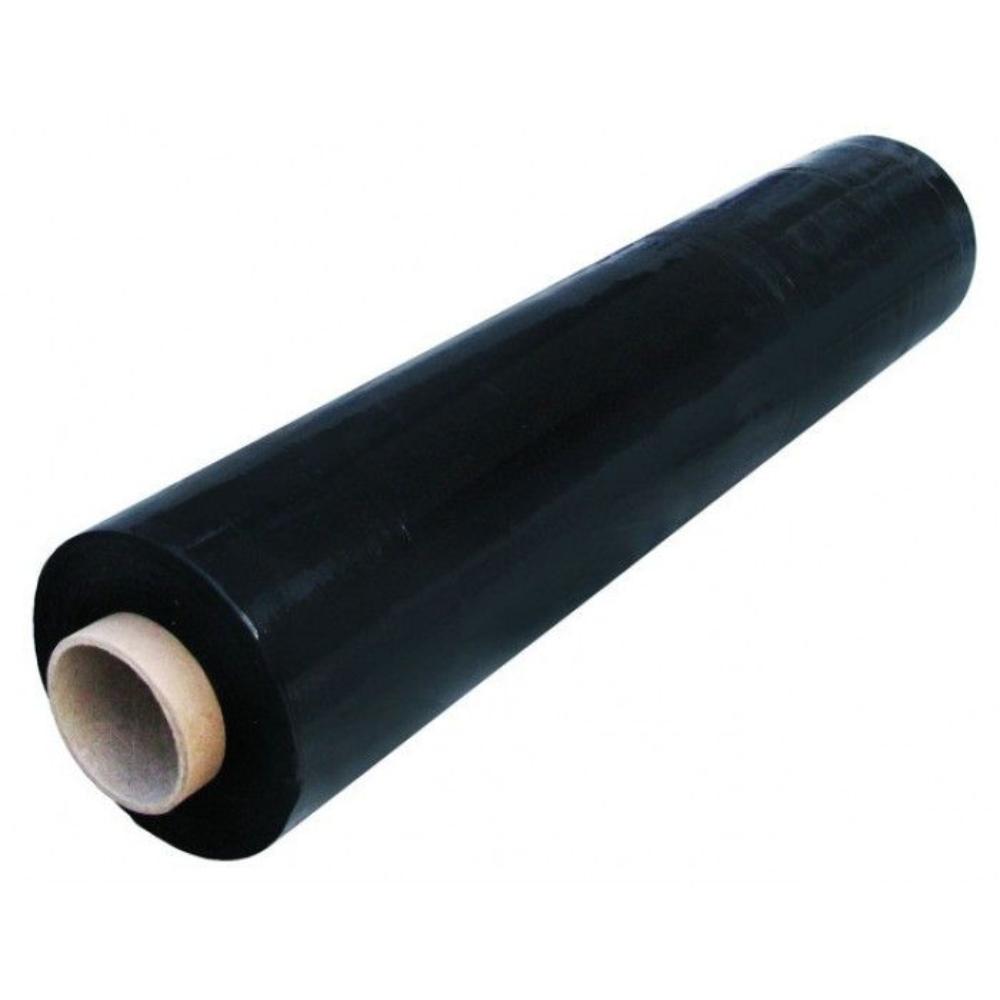 Folie stretch, negru, 23 mic, 1,3 kg imagine MatHaus