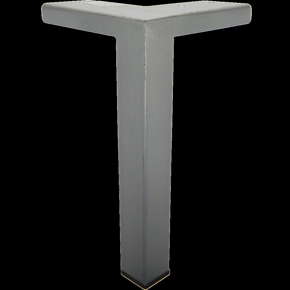 Picior pentru canapea, metal cromat mat,  25 x 25 mm, H: 180 mm imagine MatHaus.ro