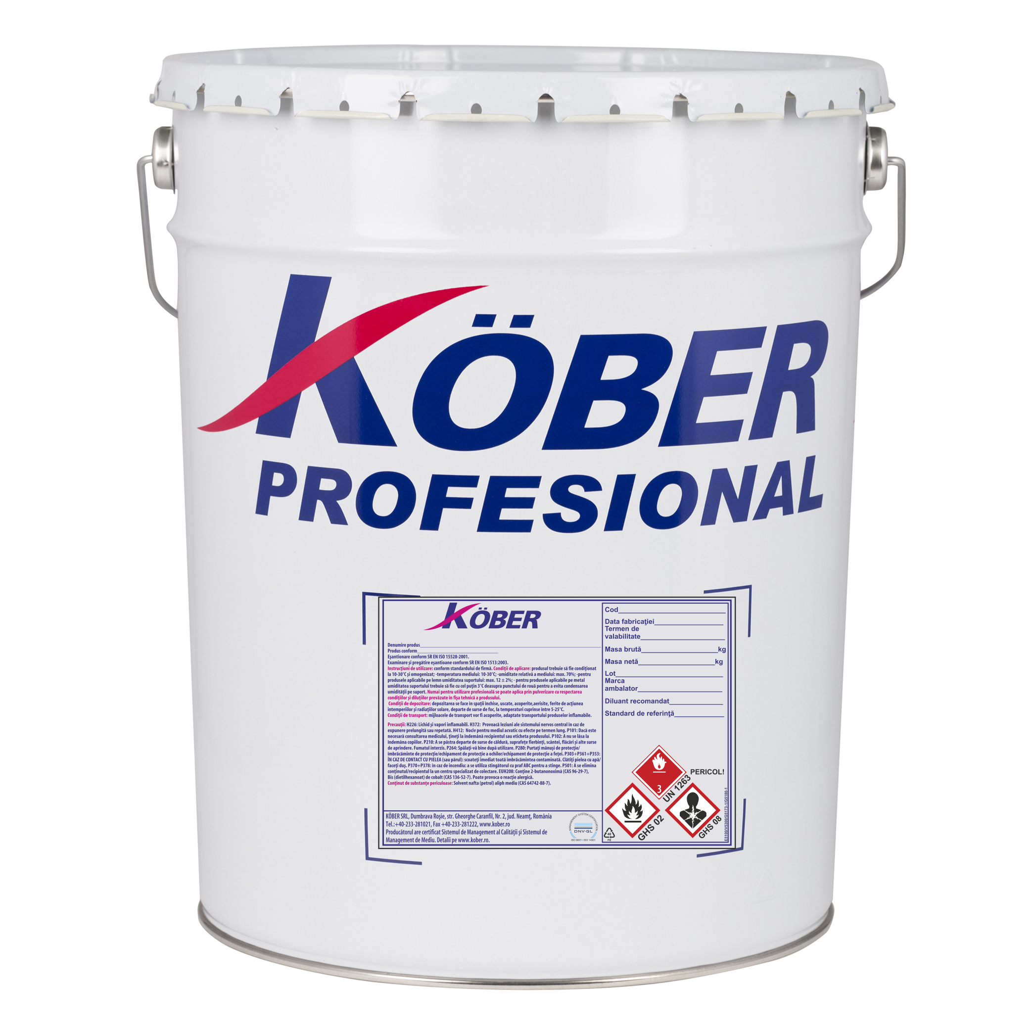 Grund pentru metal Kober Pitura, oxid rosu G5173-1-B, 25 kg