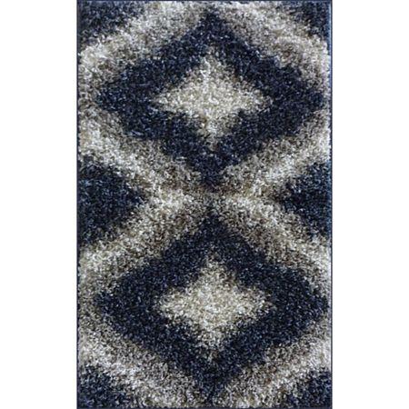 Covor modern Shaggy 3, polipropilena friese, model albastru, 50 x 80 cm