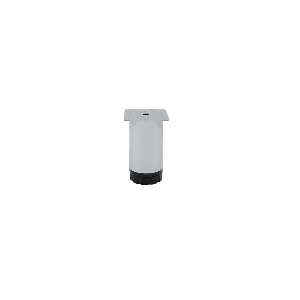 Picior mobila, metalic, baza din plastic reglabila, 60 x 125 mm imagine MatHaus.ro