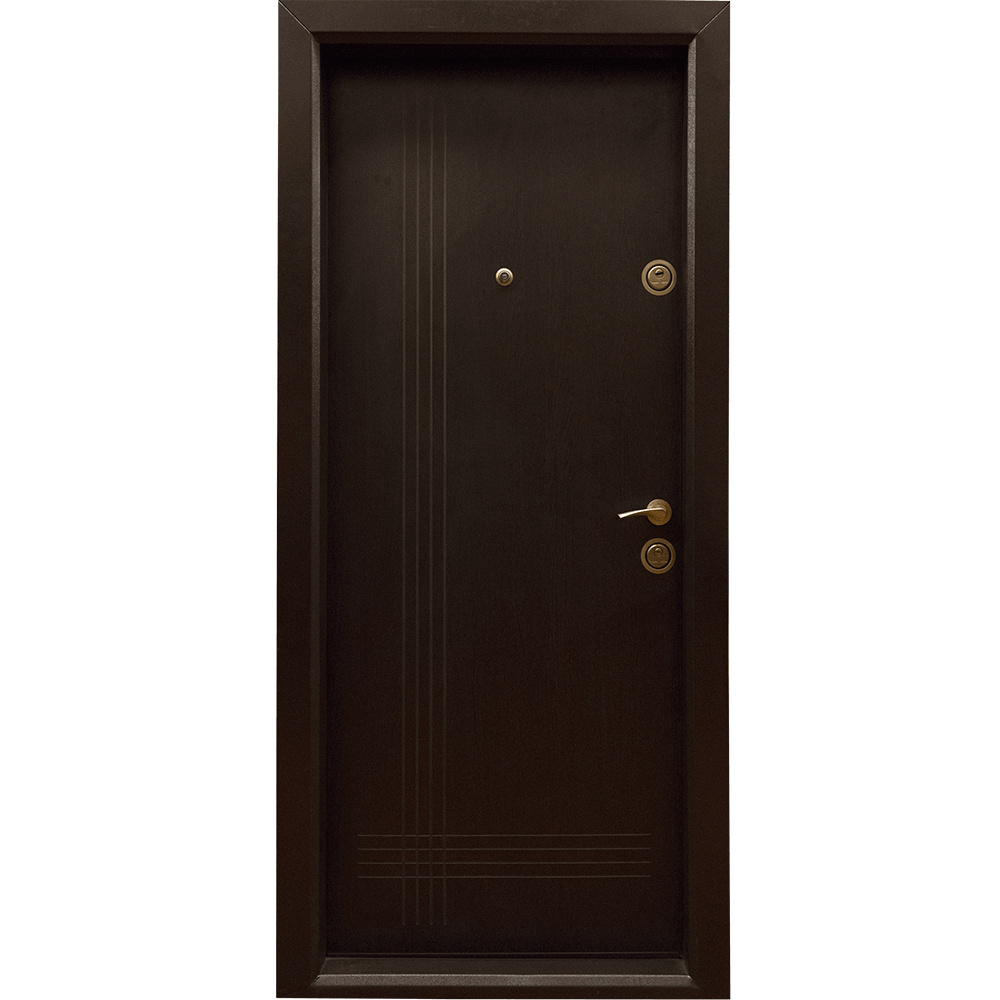 Usa metalica intrare Arta Door 333, cu fete din MDF laminat, 880 x 2010 mm, deschidere stanga, culoare wenge mathaus 2021
