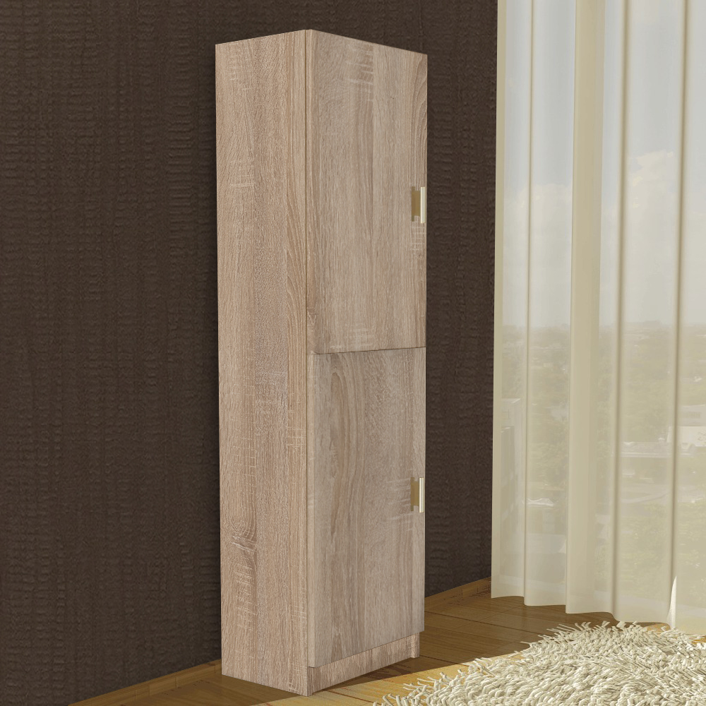 Dulap cu rafturi pal melaminat, sonoma, 40 x 28 x 202 cm