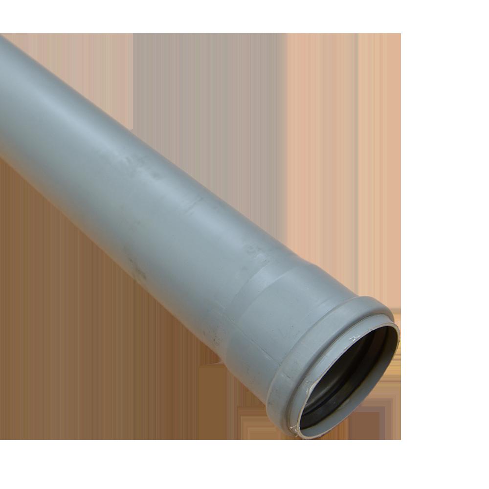 Tub PP Valrom, gri, diametru 75 mm, lungime 2 m