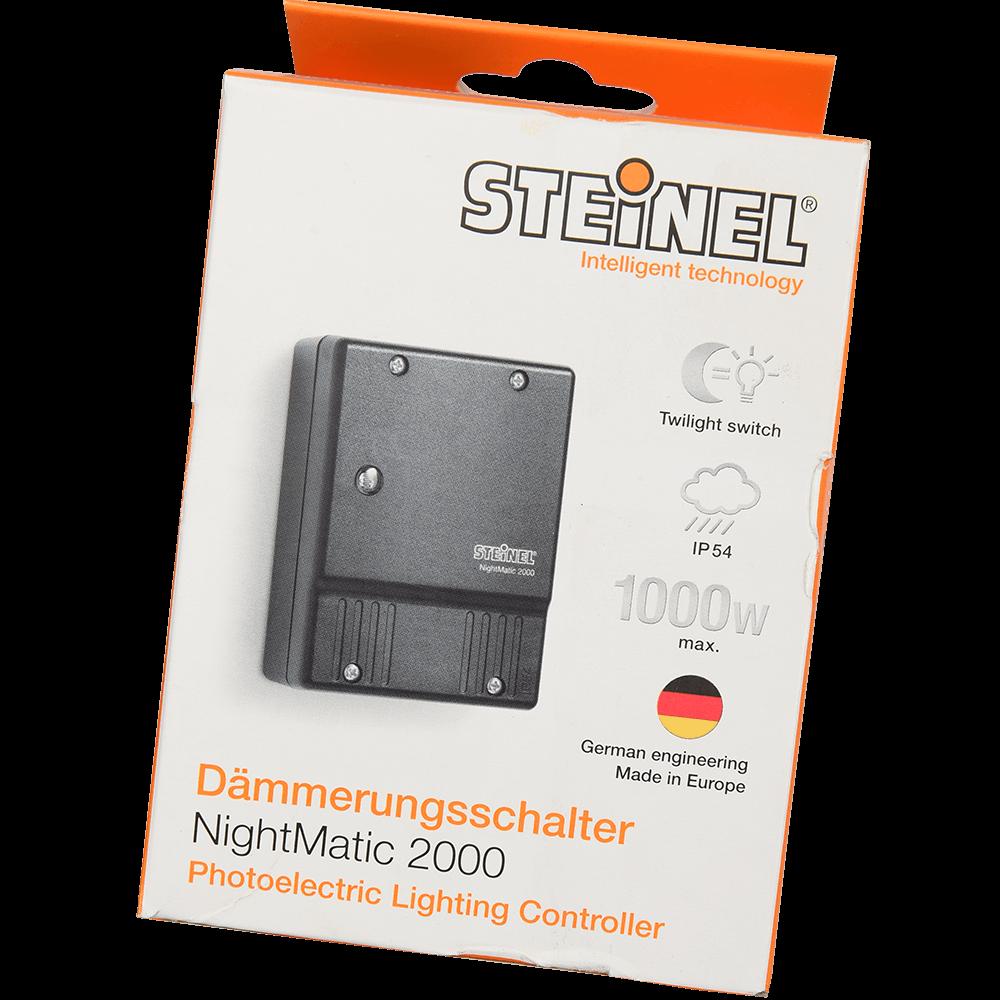 Intrerupator cu senzor de lumina NM 2000 Steinel, 1000 W, negru imagine MatHaus.ro