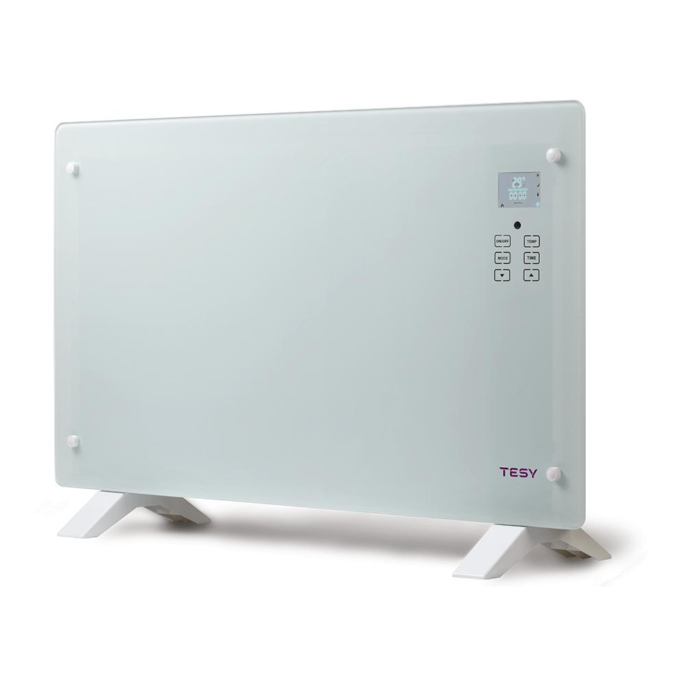 Convector electric de pardoseala cu telecomanda Tesy CN 205 EASLFRW, 2000 W, 86 x 23 x 53 cm,  sticla mathaus 2021