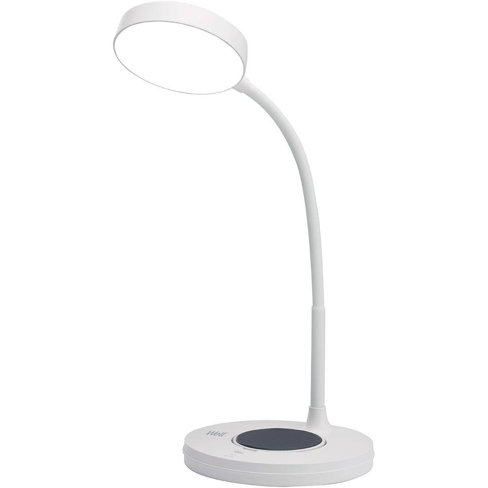 Lampa led birou Well LW03 WL, cu incarcare wireless, 5 W, lumina naturala imagine 2021 mathaus