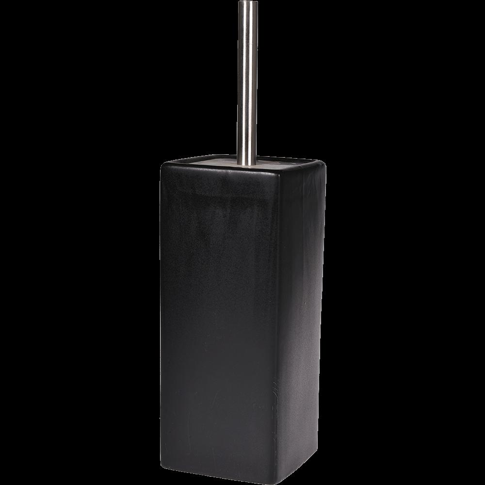 Perie WC Romtatay Nhale, ceramica, negru, 10.5 x 10.5 x 38 cm imagine 2021 mathaus