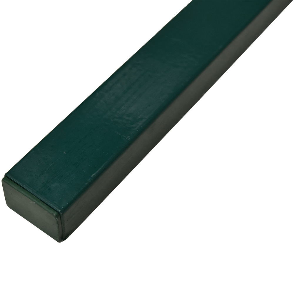 Stalp pentru gard zincat plastifiat verde, fixare in beton,H 2.5 m, 60 x 40 mm imagine MatHaus