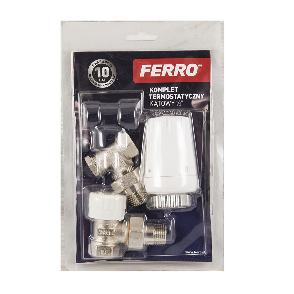 Set termostatic coltar Ferro ZTM08, 1/2 inch x 1/2 inch imagine 2021 mathaus
