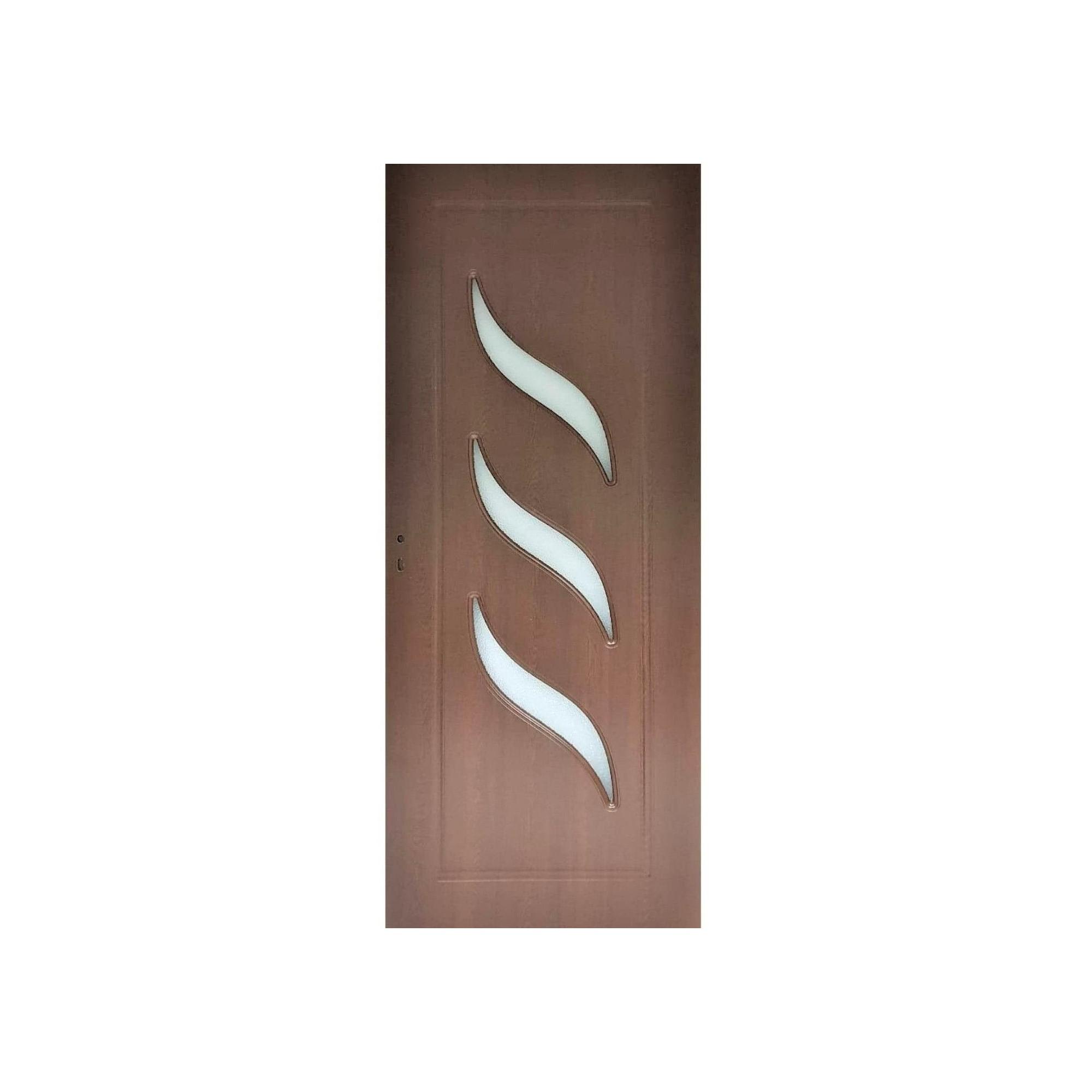 Usa interior cu geam Pamate M02, stejar auriu, 203 x 80 x 3,5 cm + toc reglabil, reversibila mathaus 2021