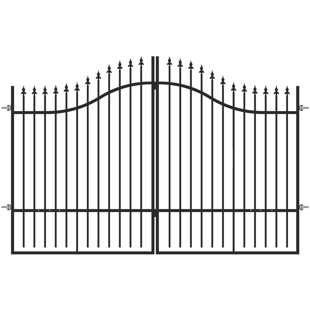 Poarta dubla Cronos, otel, negru Jet Black,  3 x 1,7 - 2 m
