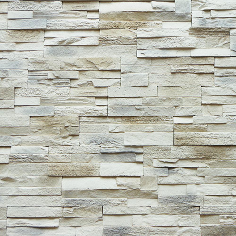 Piatra decorativa Modulo Fresco, interior/exterior, bej/gri, 35 x 11 cm