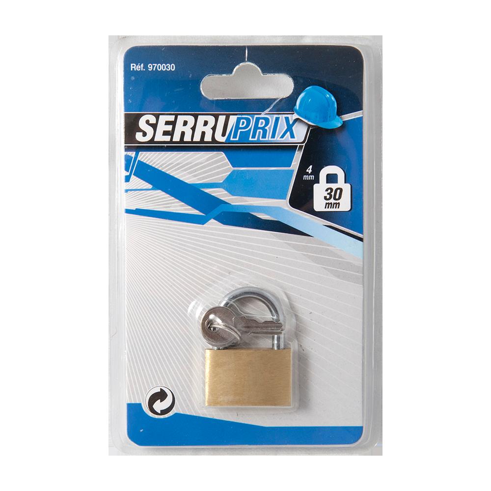 Lacat din alama, Serruprix Basic, l 30mm, blister, 2 chei mathaus 2021