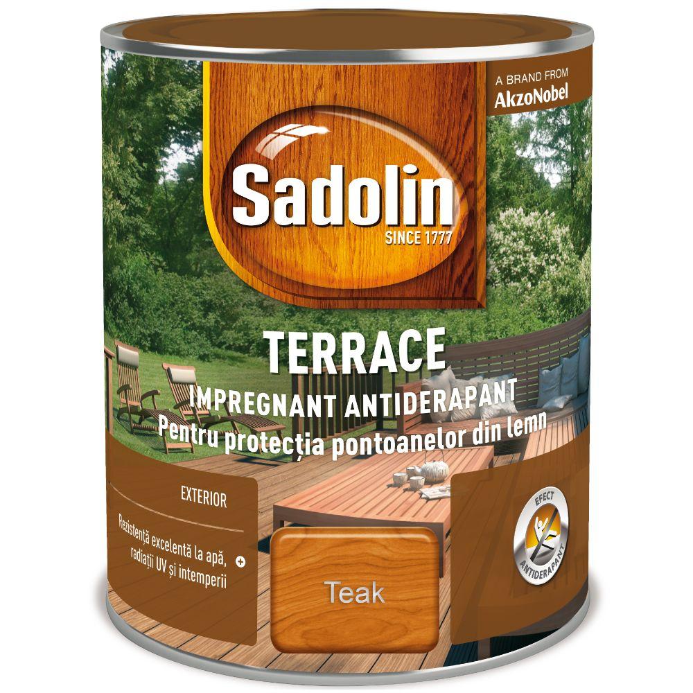 Impregnant pentru lemn, Sadolin Terrace, exterior, teack, 2,5 l mathaus 2021