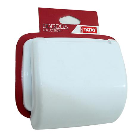 Suport hartie igienica Romtatay Iberia, plastic, sistem prindere pe perete, 18 x 5 x 18 cm