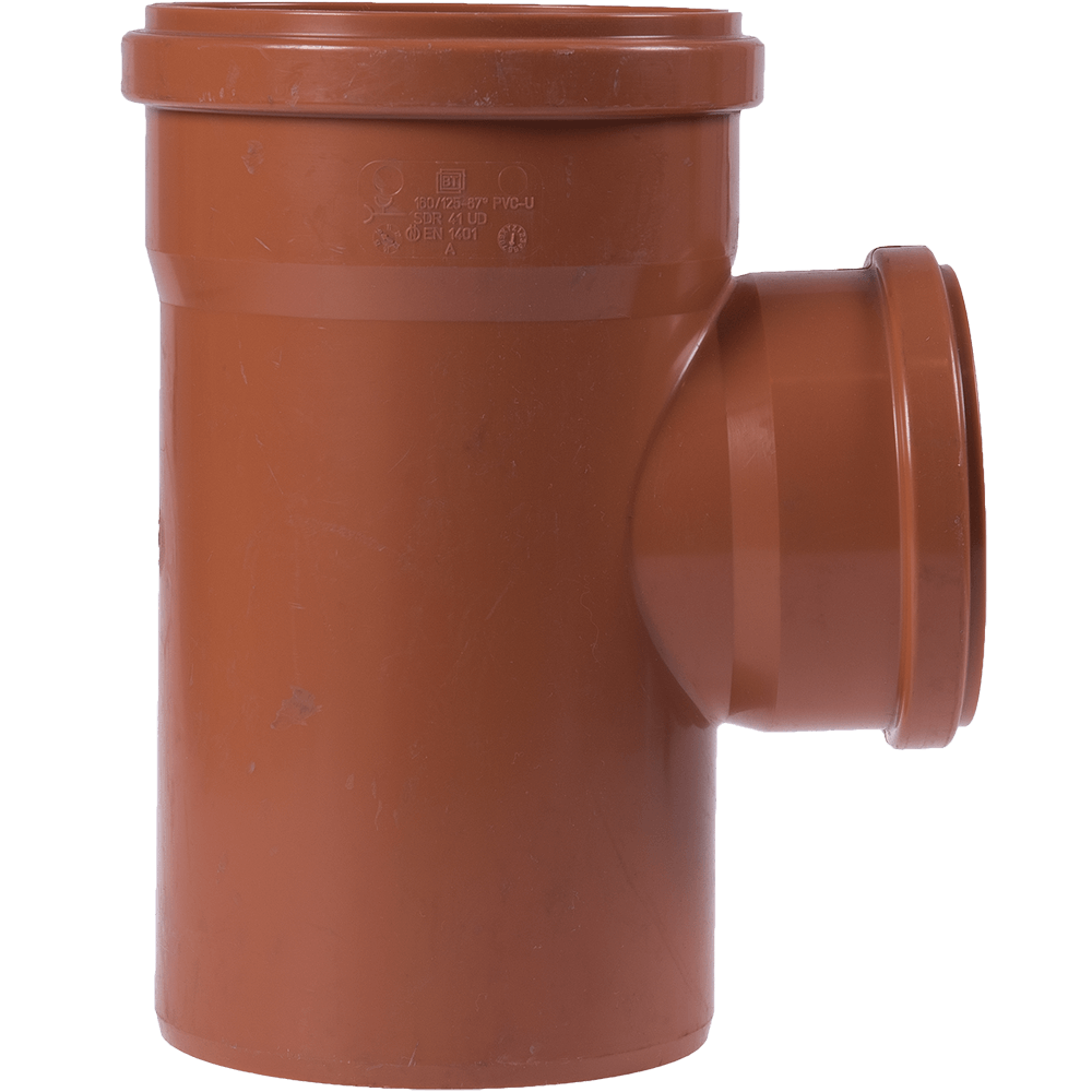 Ramificatie pentru canalizarea exteriorara Valplast, PVC, 87 grade, 160 x 125 mm