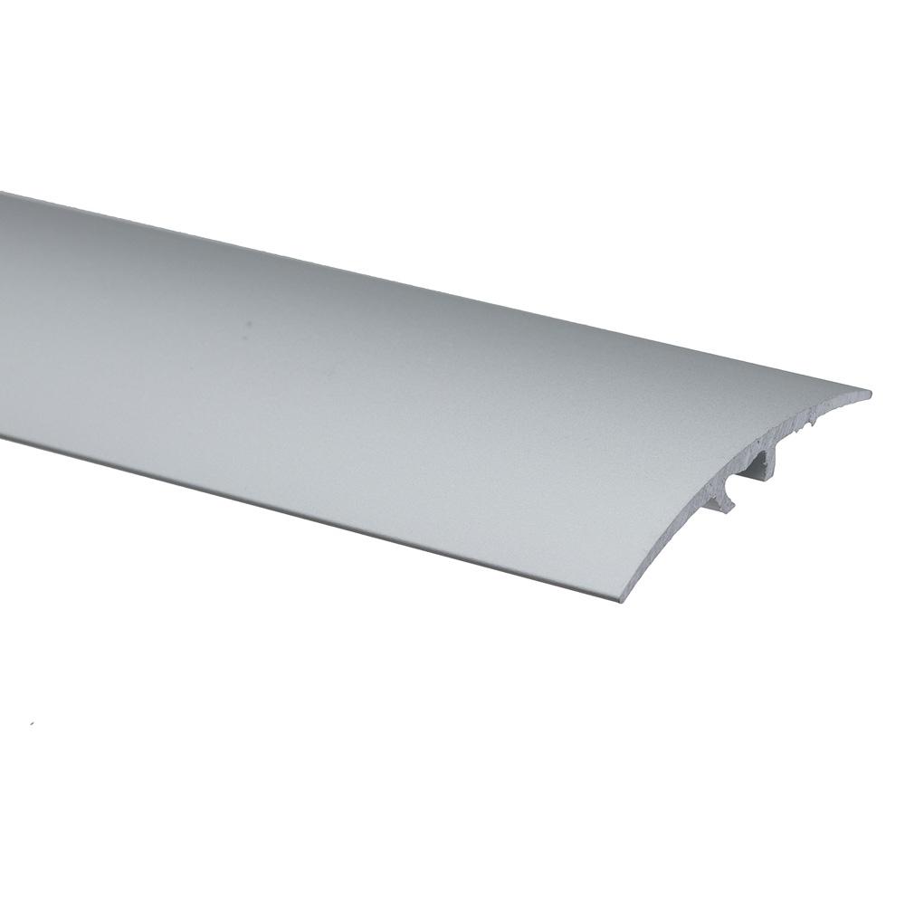 Profil de trecere cu surub mascat S64 fara diferenta de nivel Effector argint, 2,7 m imagine MatHaus.ro