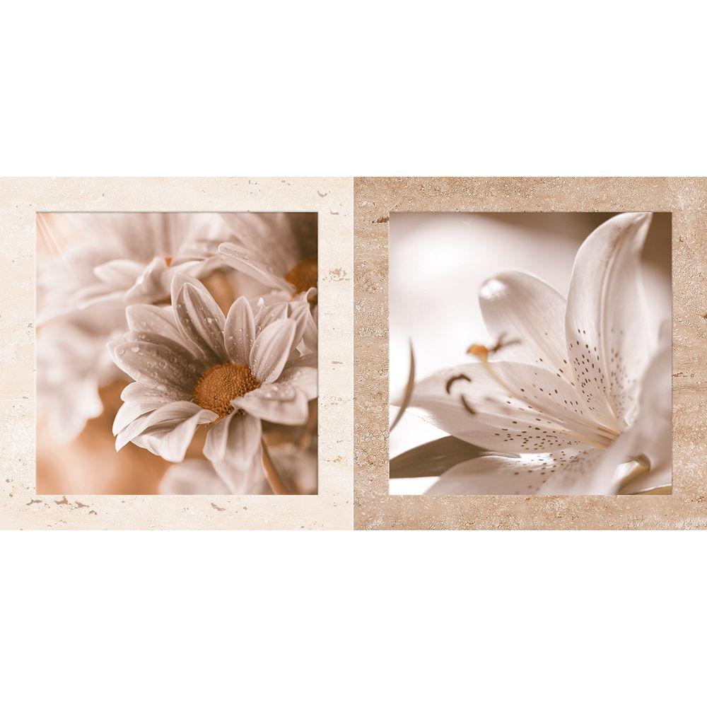 Faianta 30186-HL-TV EVIA rectificata bej floral, mata, dreptunghiulara, 30 x 60 cm imagine MatHaus.ro