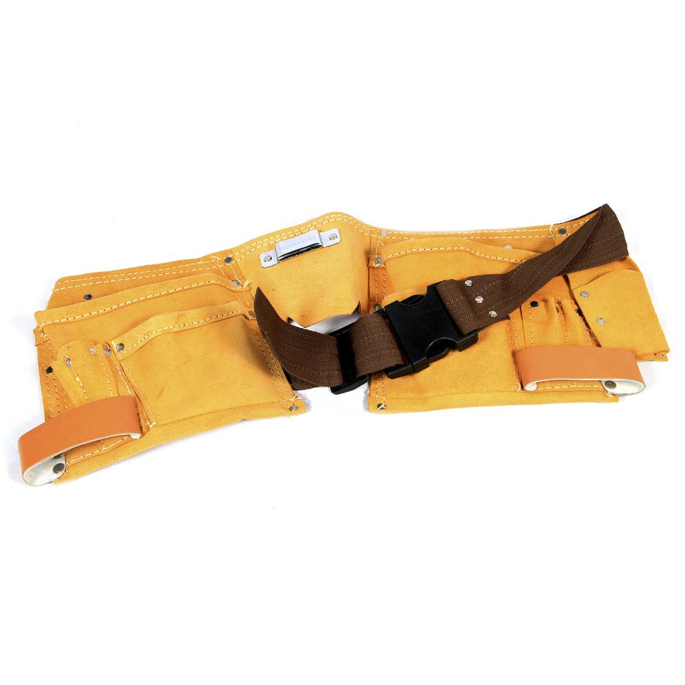 Centura suport scule Top Tools, piele, 10 buzunare imagine 2021 mathaus