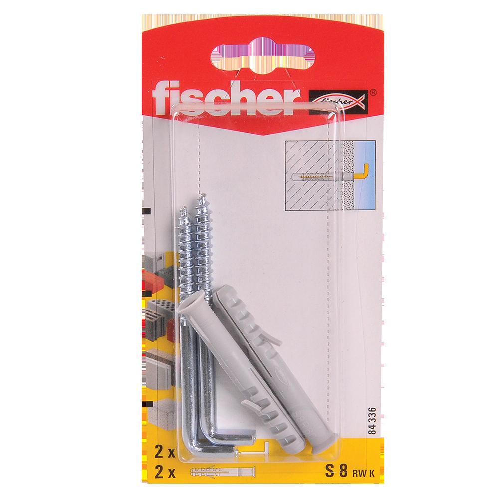 Diblu din nailon cu surub L, Fischer RWK, 8 x 80 mm, 5,8 x 100 mm, 2 buc mathaus 2021
