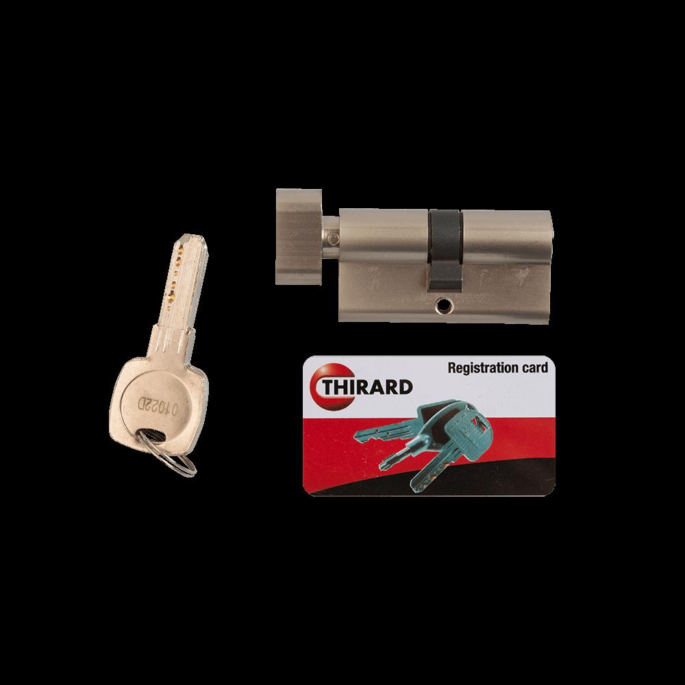 Cilindru de siguranta cu buton Trafic6, alama, 30 x 30 mm, 5 chei imagine 2021 mathaus
