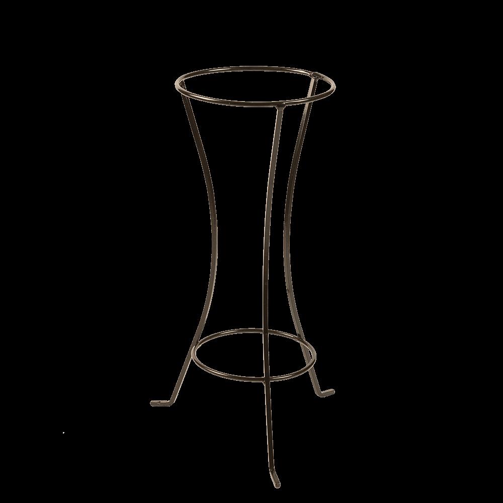 Suport tip amfora, inaltime 50 cm, fier forjat, negru