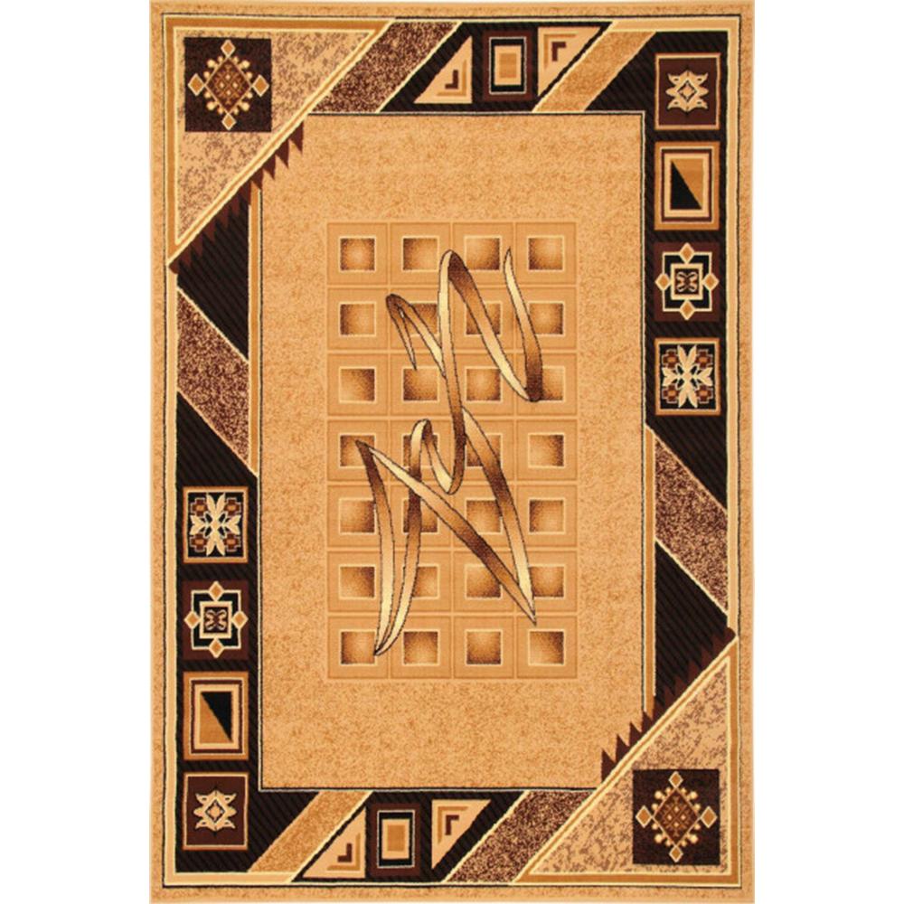 Covor clasic Gold 090/12, polipropilena BCF, bej-maro, 50 x 80 cm imagine MatHaus.ro