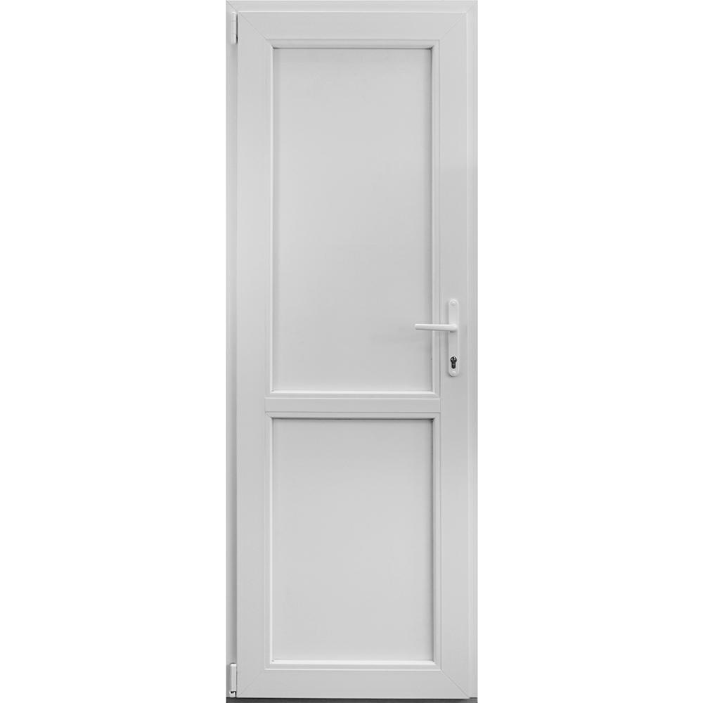 Usa PVC tehnica, alba, 86 x 204 cm, stanga imagine 2021 mathaus