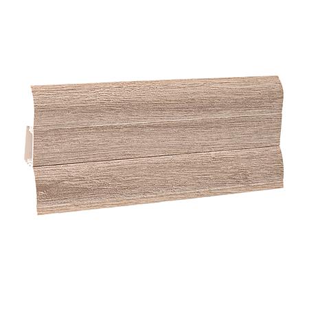 Plinta parchet, PVC, stejar alb 114, Perfecta 62, 2500x62x23 mm