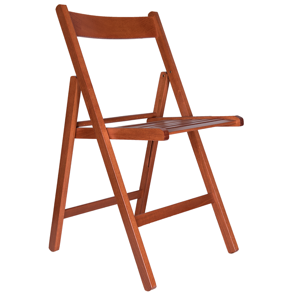 Scaun pliant Basic din lemn de fag, culoarea cires, sezut de lemn, 78x43cm mathaus 2021