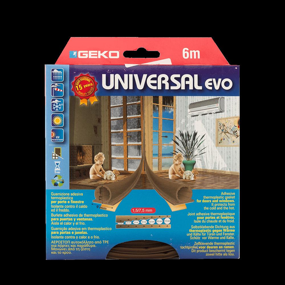Garnitura adeziva termoplastica Geko Universal, maro, 9 x 7 mm x 6 m imagine 2021 mathaus