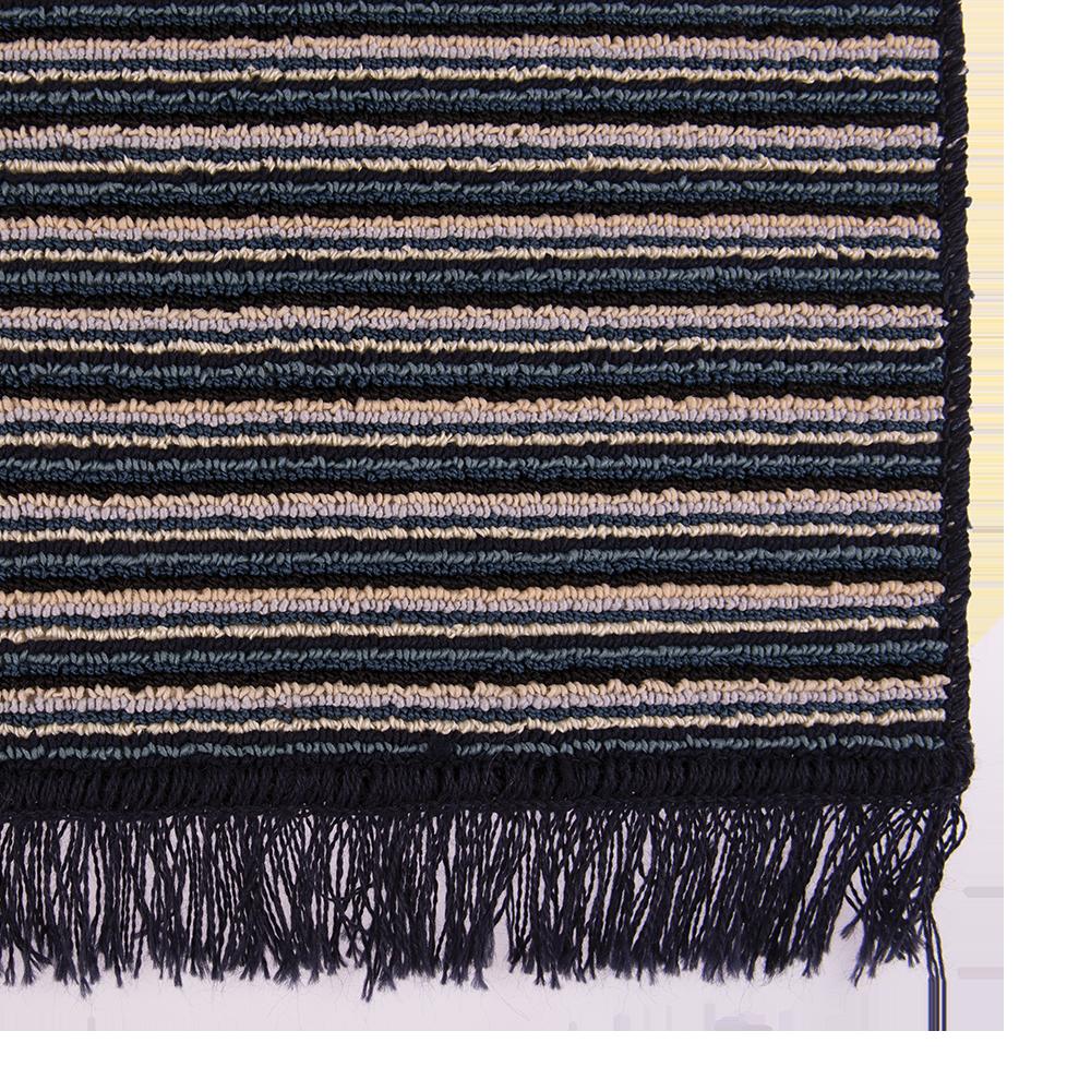 Covor bucatarie Niagara, 100% polipropilena, model cu dungi albastru-bej, 65 x 135 cm mathaus 2021