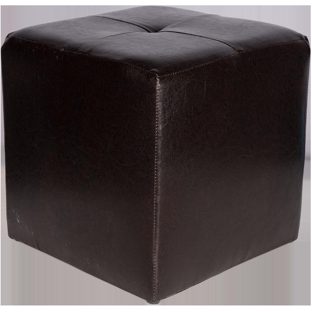 Taburet Cool tapiterie imitatie de piele, negru IP21901, 38 cm inaltime