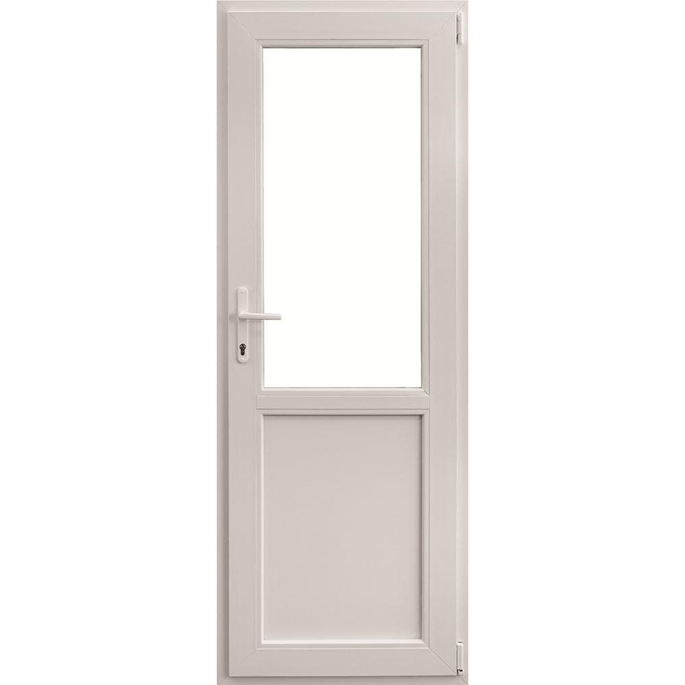 Usa PVC secundara, alba, 86 x 204 cm, dreapta imagine 2021 mathaus