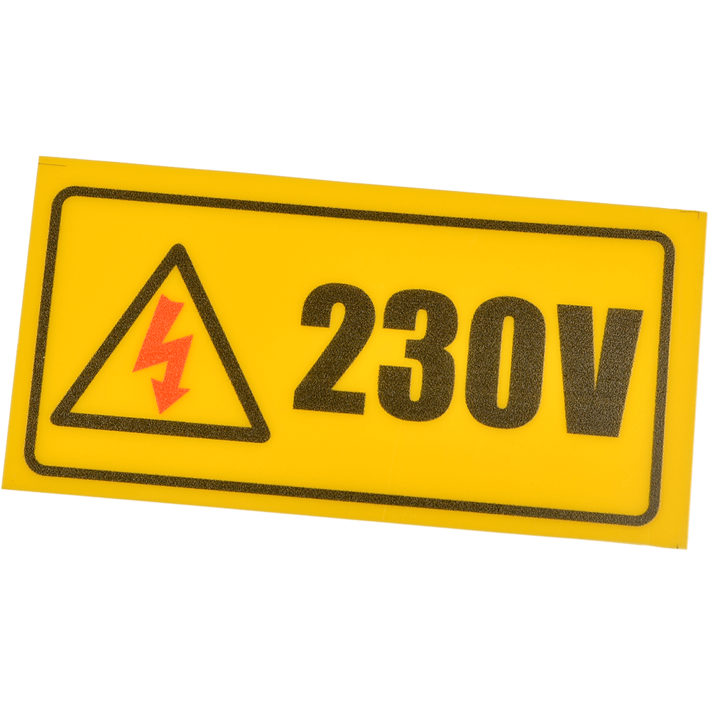 Indicator avertizare 230 V, dreptunghiular, 10 x 5 cm mathaus 2021