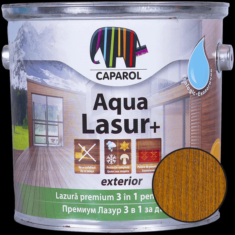 Lazura pentru finisaj lemn  Caparol Aqua Lasur +, exterior, aluna, 2,5 l imagine 2021 mathaus