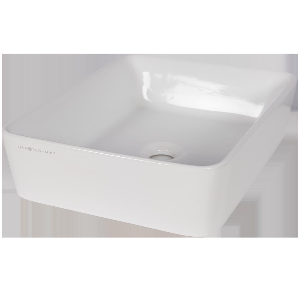 Lavoar montaj blat, 48x130x37.5 cm, alb mathaus 2021