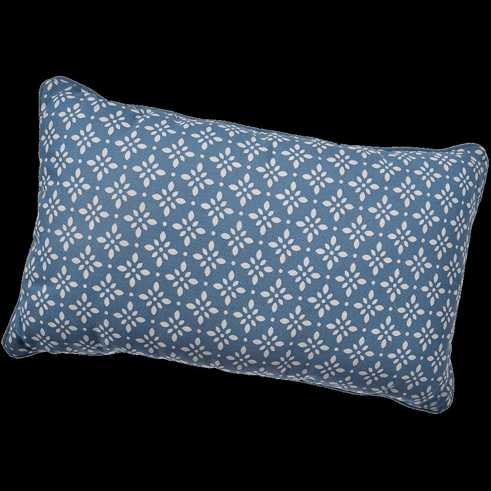 Perna decorativa Mosaik, bumbac 100%, bleu inchis, 30 x 50 cm, dreptunghiulara mathaus 2021
