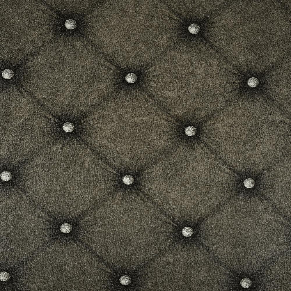Tapet vinil Seela Natural, 6509-7, negru, model capitonat, 10,05 x 0,53 m