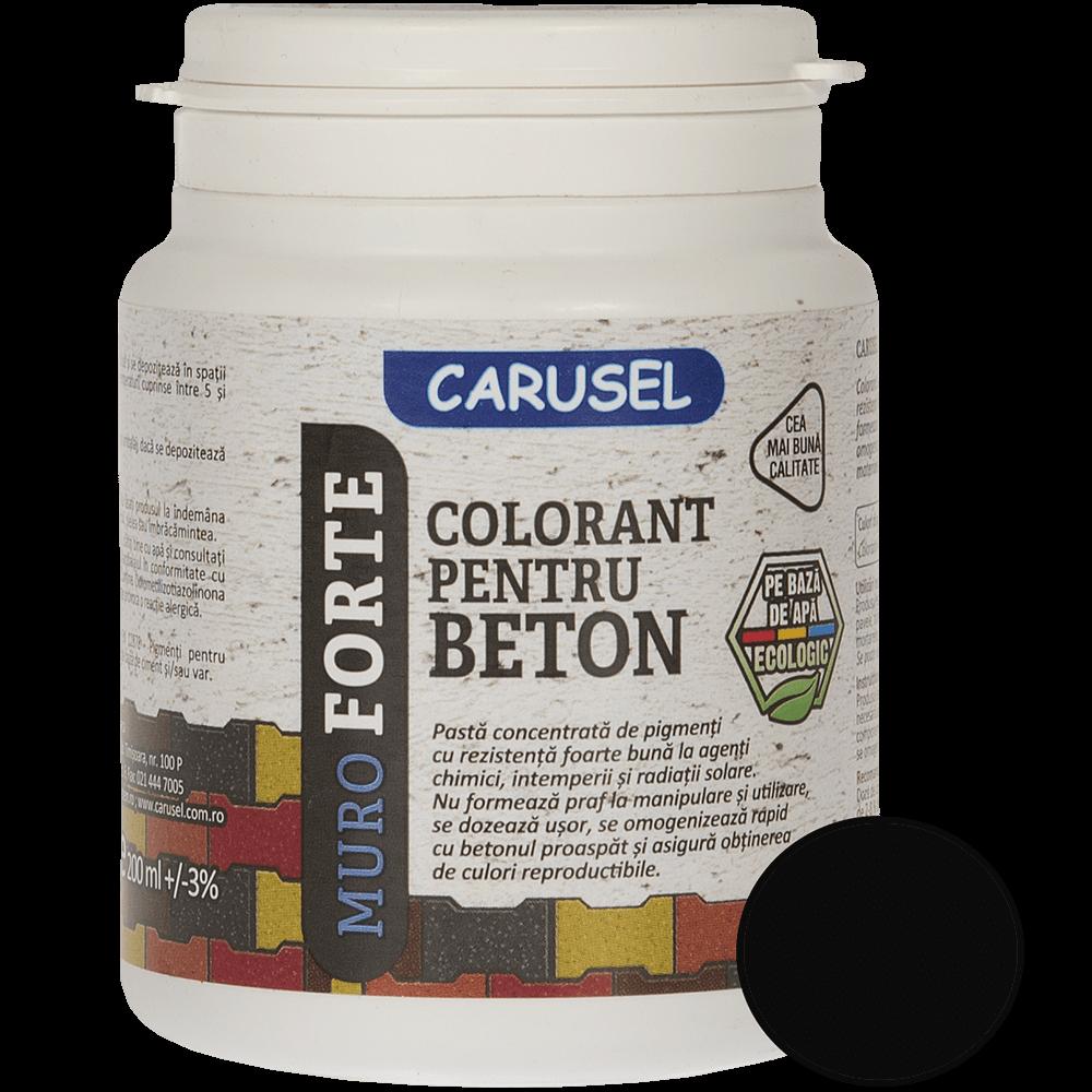 Colorant pentru beton Carusel, negru, 200 ml imagine MatHaus.ro