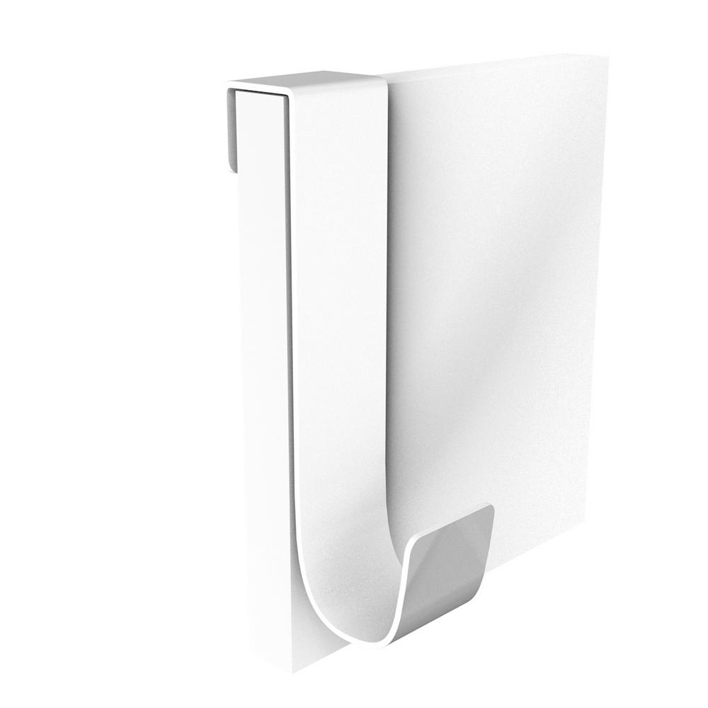 Agatator haine, agatare dubla, aluminiu, alb, 60 x 45 x 90 mm
