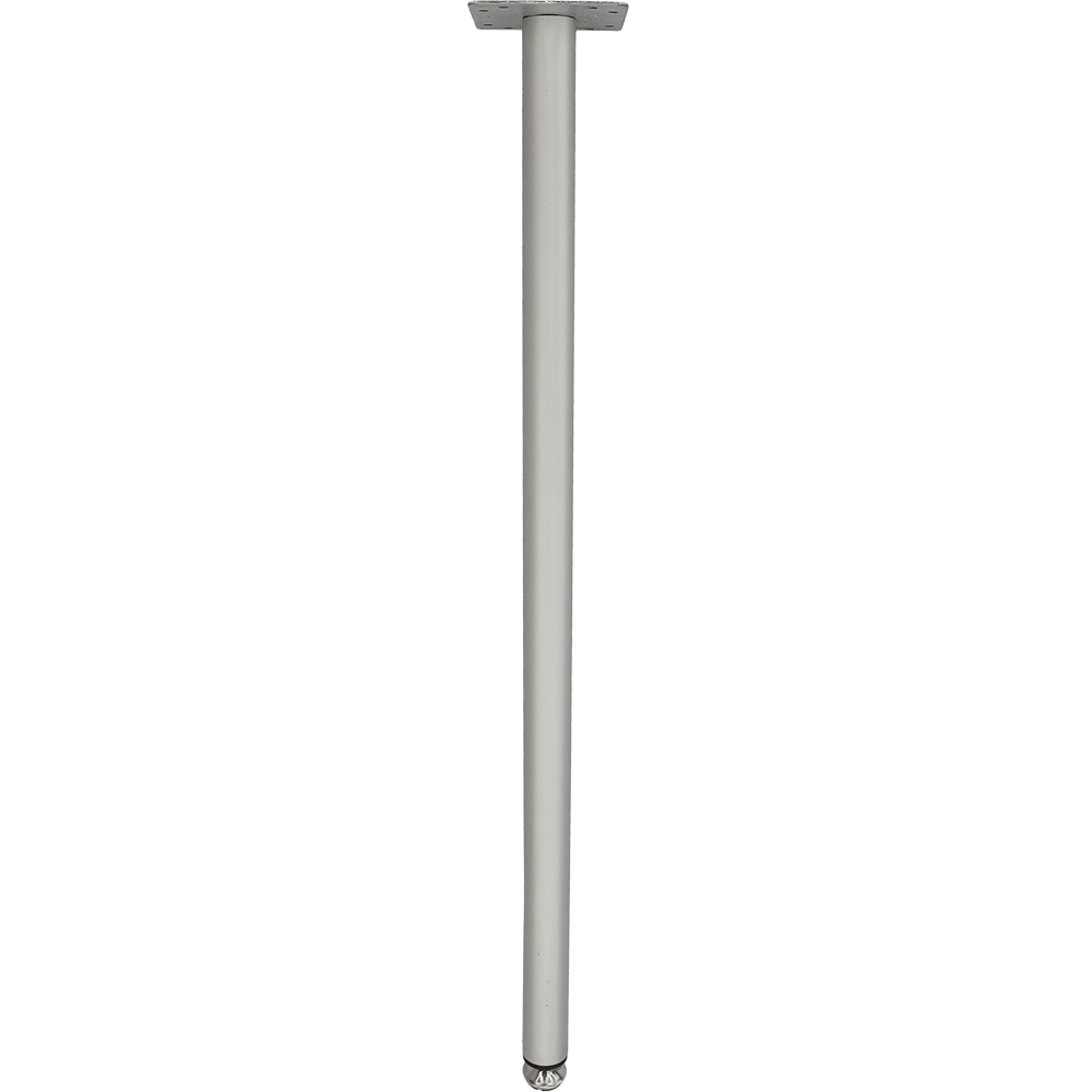 Picior de masa metalic cu baza de inox si plastic H:710-730 mm, crom mat imagine 2021 mathaus