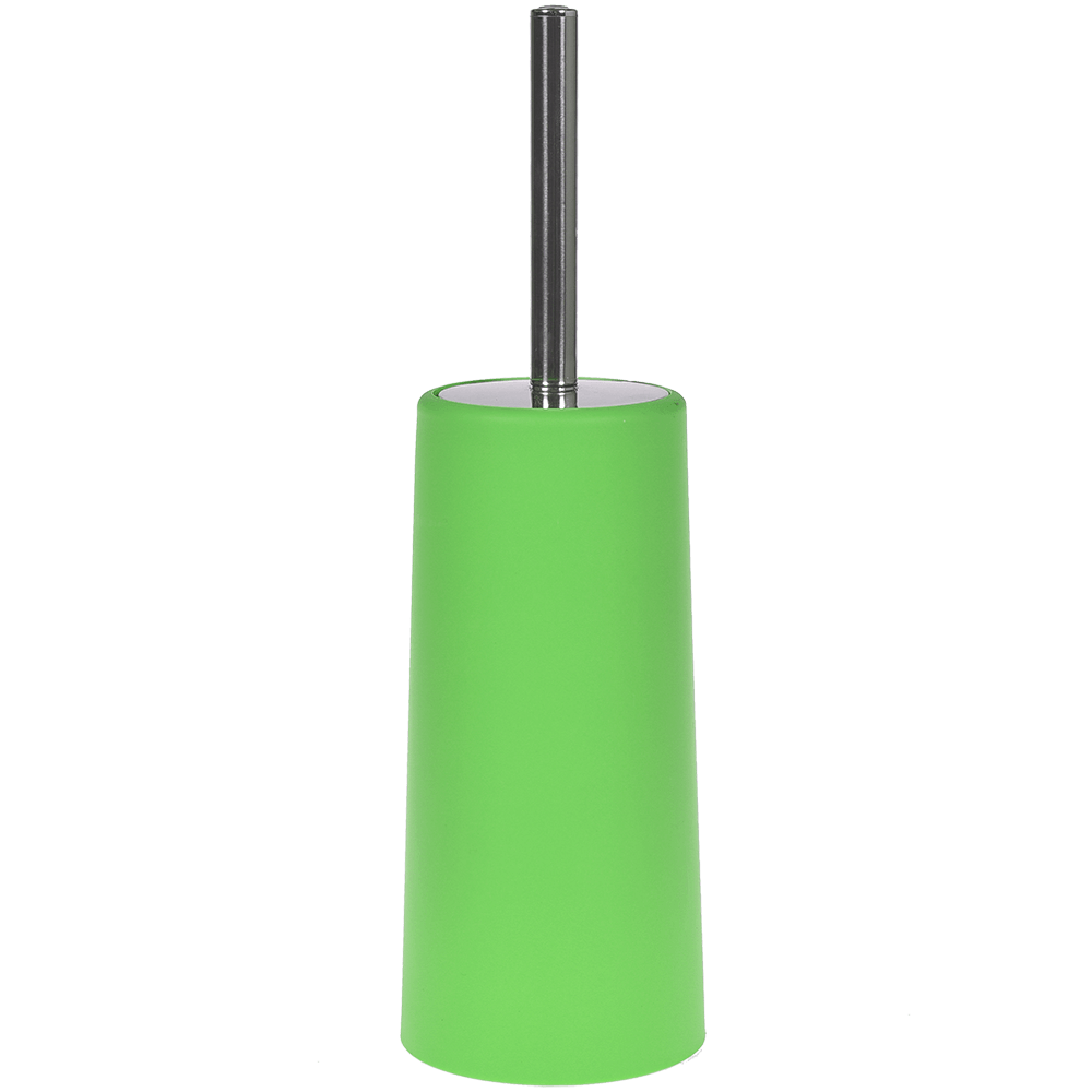 Perie WC Romtatay Slim, polipropilena/metal inoxidabil, verde, 10 x 22 cm imagine 2021 mathaus
